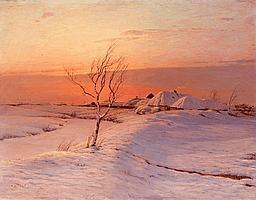 DUBOVSKOY, NIKOLAI (1859-1918) - A Winter's Evening