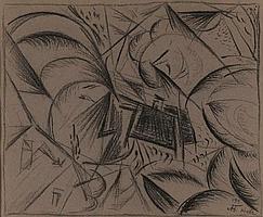 * BOGOMAZOV, ALEKSANDR (1880-1930) - Cityscape