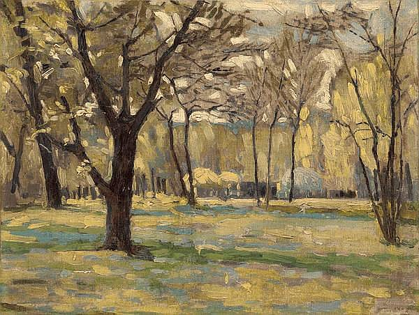 § ALTMAN, ALEXANDER (1885-1950) - Landscape with Trees