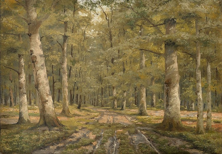 BROVAR, YAKOV (1864-1941) Oak Grove , signed and