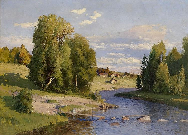 SHILDER, ANDREI (1861-1919) Summer Landscape with