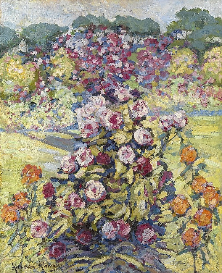 § ALTMAN, ALEXANDER (1885-1950) Rose Garden , sign