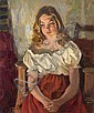 IVANOFF, SERGE 1893-1983 Girl in Red Skirt, Serge Ivanoff, Click for value