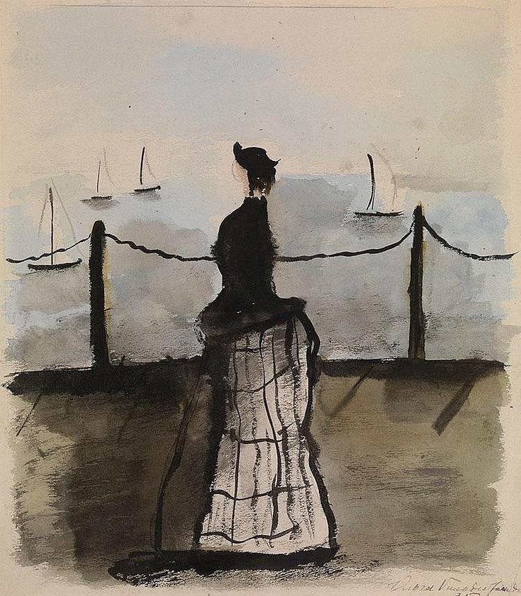 GILDEBRANDT, OLGA 1897-1980 Woman by the Sea