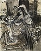 BEKHTEEV, VLADIMIR 1878-1971 Illustration for  Herodias  by Flaubert, Vladimir Georgievič Bechteev, Click for value