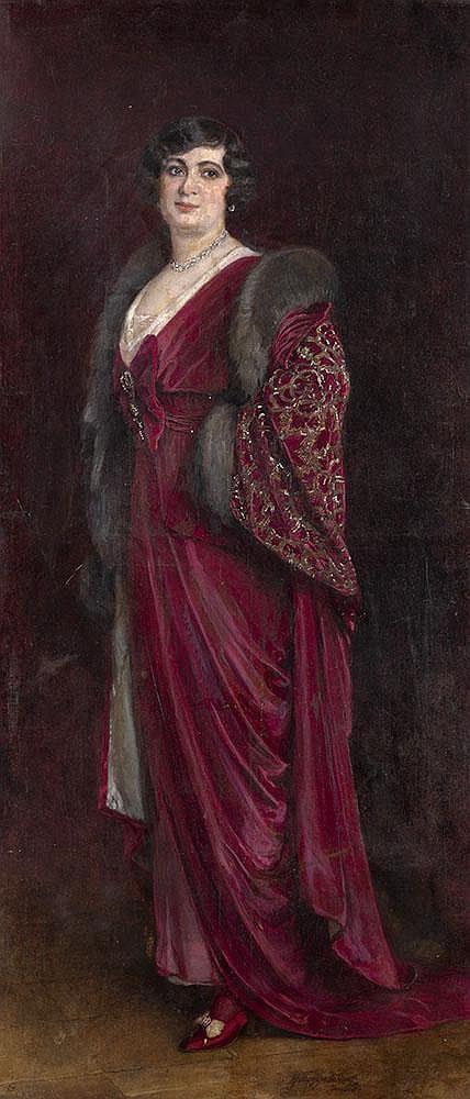 BODAREWSKY, NIKOLAI 1850-1921 Female Portrait