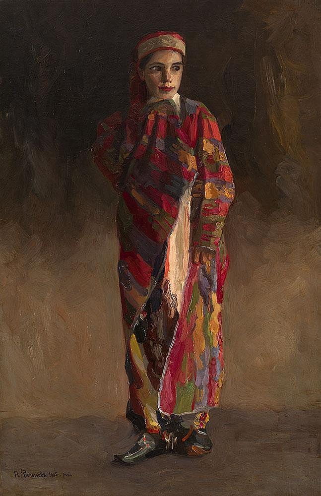 FILONOV, PAVEL 1883-1941 Girl in Oriental Clothes