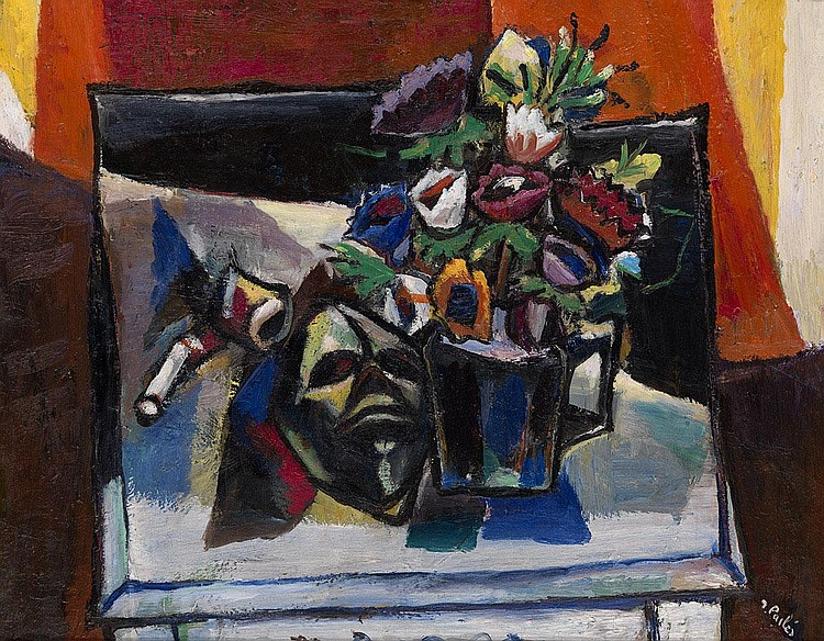 PAILES, ISAAC 1895-1978 Still Life with Mask