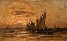 ORLOVSKY, VLADIMIR (1842-1914) Fishing Boats at Sunrise