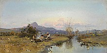 VASILKOVSKY, SERGEI (1854-1917) Hunters at Rest