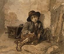 HARLAMOFF, ALEXEI (1840-1925) Little Organ Grinder