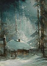 SAVRASOV, ALEKSEI (1830-1897) Hut in a Wintry Forest