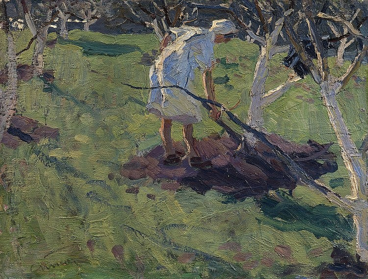 * TKACHEV, SERGEI (B. 1922) Garden in Spring