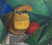 BOGOMAZOV, ALEKSANDR (1880–1930) Abstract Still Life