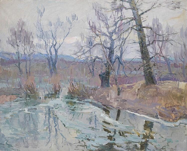 *GLOUSCHENKO, NIKOLAI - (1901-1977)  Lyrical Spring