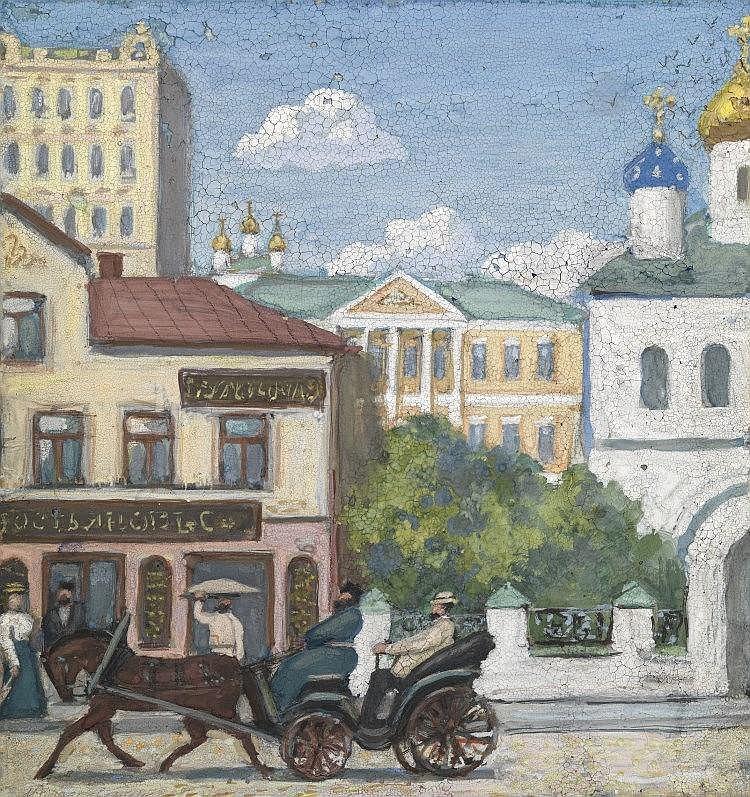 ROZHDESTVENSKY, ALEXANDER - (1901-1996)  Old Moscow