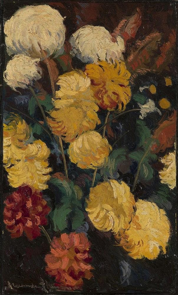 *§ALTMAN, ALEXANDER - (1885-1950)  Chrysanthemums
