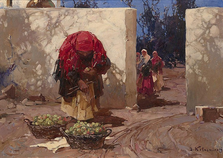 KOLESNIKOV, STEPAN 1879-1955 The Apple Seller