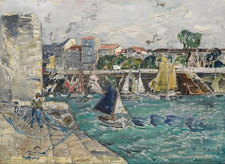 GRISHENKO, ALEXEI 1883-1977 Marine au Filet Bleau,