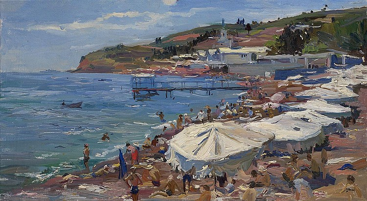 NALBANDIAN, DMITRI 1906-1993 Crimean Beach signed,