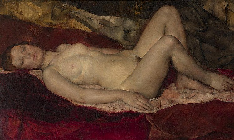 GLUCKMANN, GRIGORY 1898-1973 Reclining Nude signed