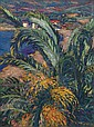 WIDHOPFF, DAVID 1867-1933 Palms on the Bay signed., David O. Widhopff, Click for value