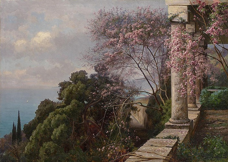 KRACHKOVSKY, IOSIF 1854-1914 Spring in the Crimea
