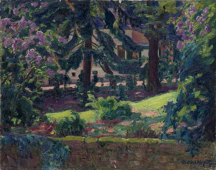 WIDHOPFF, DAVID 1867-1933 Landscape with Blooming