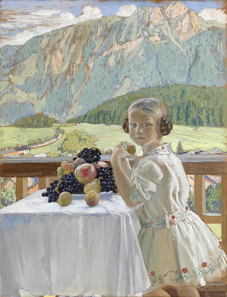 * KUSTODIEV, BORIS (1878-1927) Portrait of Irina Kustodieva,