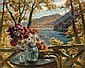* WESTCHILOV, KONSTANTIN (1877-1945) Still Life on a Terrace,, Constantin A Westchiloff, Click for value