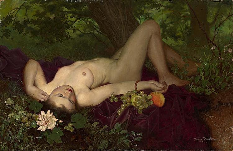 KLESTOVA, IRENE (1908-1989) Reclining Nude,