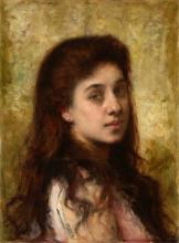 *HARLAMOFF, ALEXEI (1840–1922) - Portrait of a Girl