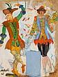 Two Dancers from La Princesse de Charizme, Nikolay Milioti, Click for value