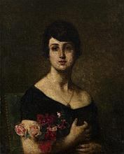 HARLAMOFF, ALEXEI (1840-1925) Female Portrait