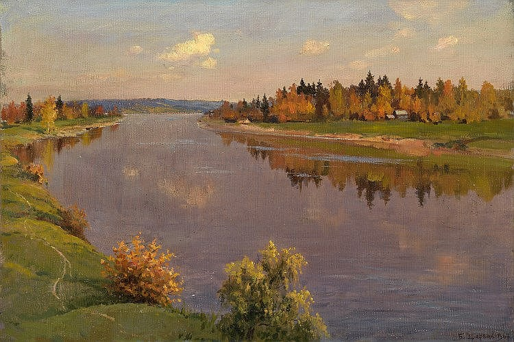 SHCHERBAKOV, BORIS (1916-1995) The Volga River