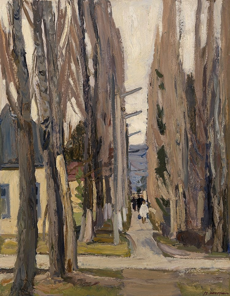 * NECHITAILO, VASILY (1915-1980) Poplar Alley