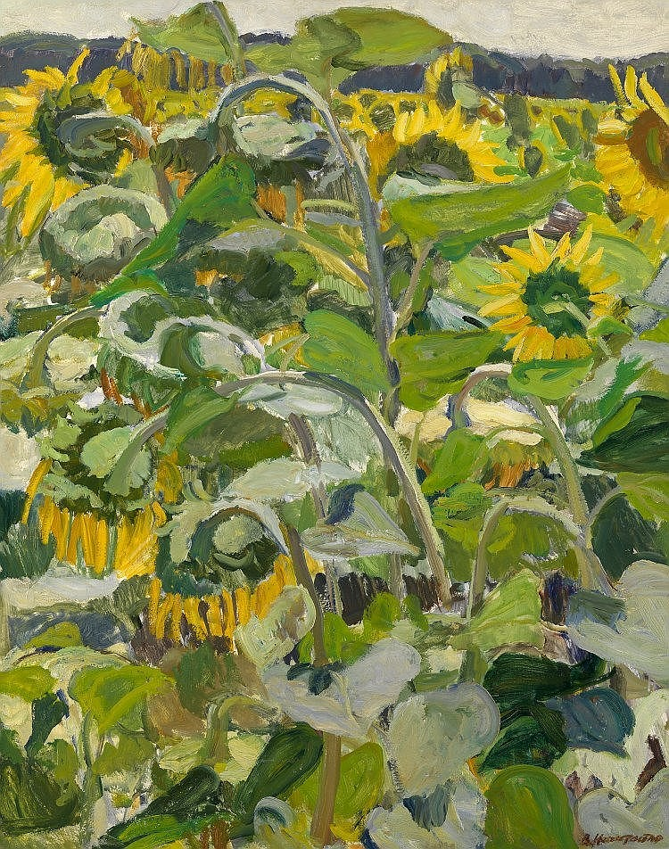 * NECHITAILO, VASILY (1915-1980) Sunflowers