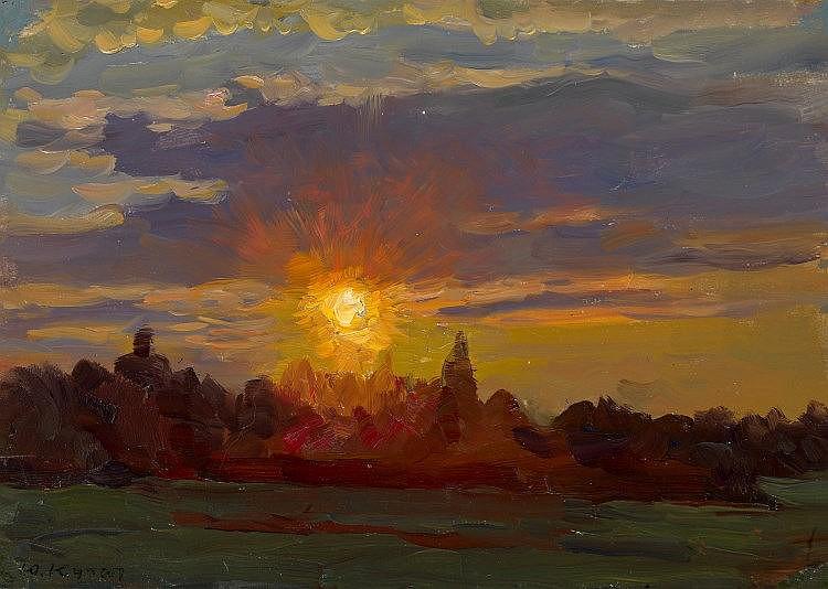 * KUGACH, YURIY (1917-2013) Setting Sun