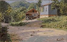 * KISELEV, ALEXANDER (1838-1911) House by the Road