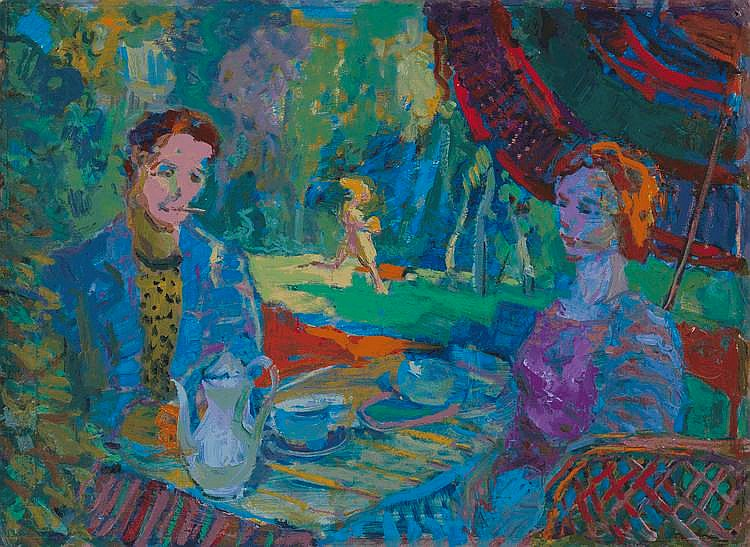 GLOUSCHENKO, NIKOLAI (1901-1977) In the Park