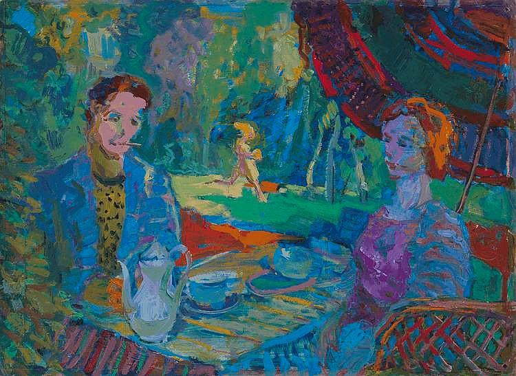 GLOUSCHENKO, NIKOLAI (1901-1977) In the Park