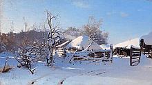* DUBOVSKOY, NIKOLAI (1859-1918) Winter Scene