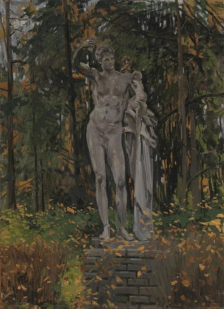 STOLITSA, EVGENI (1870-1929) Statue of Hermes in a Garden