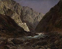 WELTZ, IVAN (1866-1926) - Mountain River
