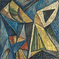 * BOGOMAZOV, ALEKSANDR (1880-1930) - Composition with a Black Triangle