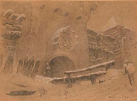 VASNETSOV, APOLLINARI (1856-1933) - At the Gate