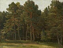 Oil Shishkin Ivan Ivanovich Russia artist Edge of deciduous forest no framed
