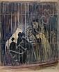 BEKHTEEV, VLADIMIR 1878-1971 Lion Tamers, Vladimir Georgievič Bechteev, Click for value