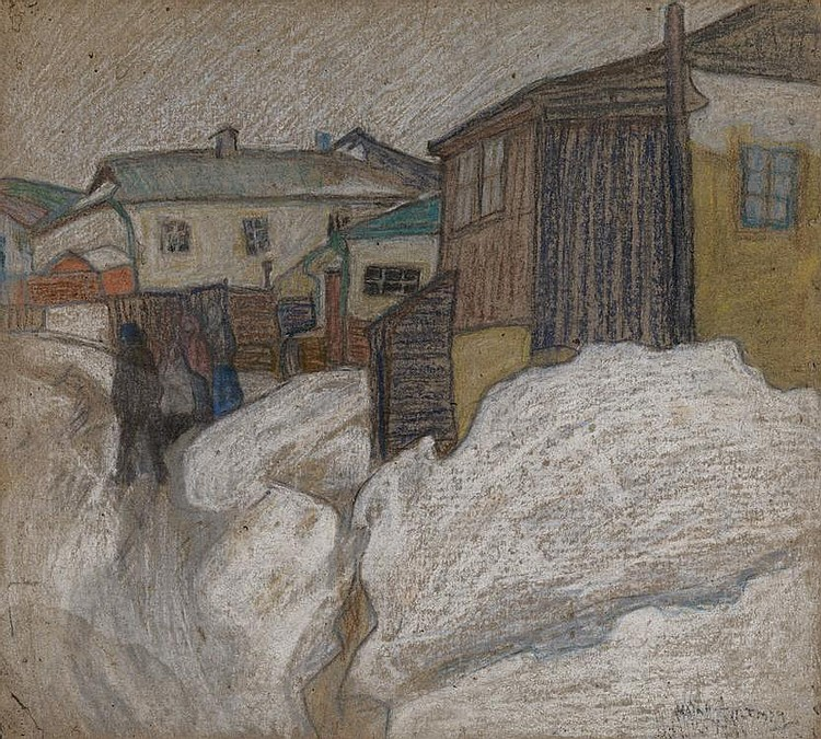 ALTMAN, NATHAN 1889-1970 Winter Scene