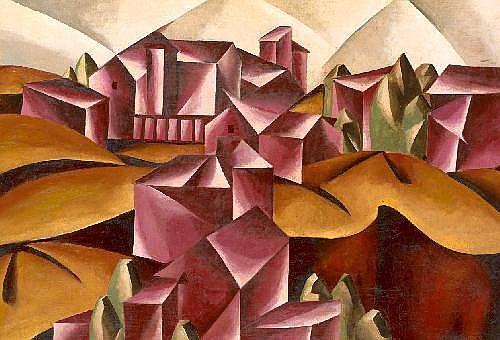 POPOVA, LIUBOV 1889-1924 Birsk Landscape signed,